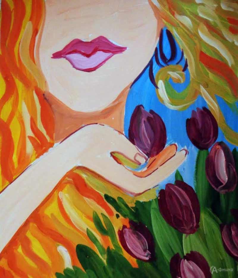 Занятие визостудии «Тюльпан в ладони»: Детская афиша Белгорода