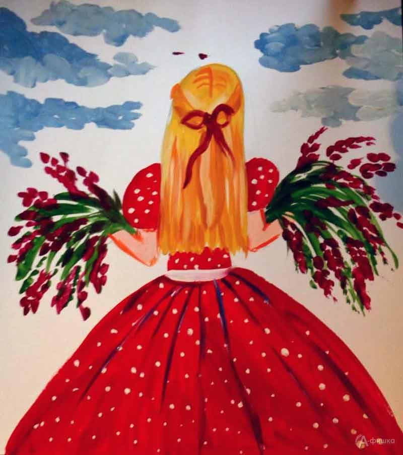 Занятие визостудии «Девушка в красном платье»: Детская афиша Белгорода
