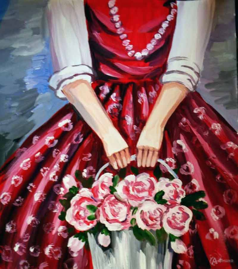 Занятие визостудии «Девушка с корзиной роз»: Детская афиша Белгорода