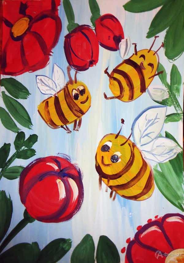 Занятие визостудии «Пчёлки»: Детская афиша Белгорода
