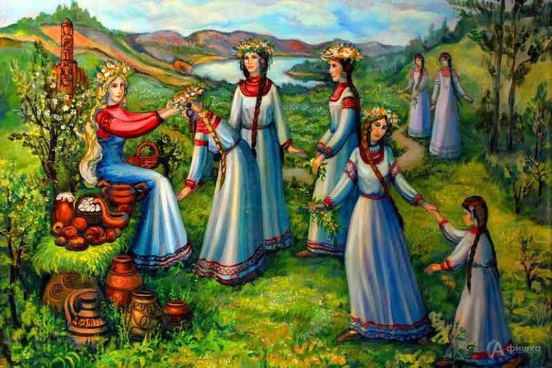 Литературно-этнографический праздник «Зелёные Святки»: Детская афиша Белгорода