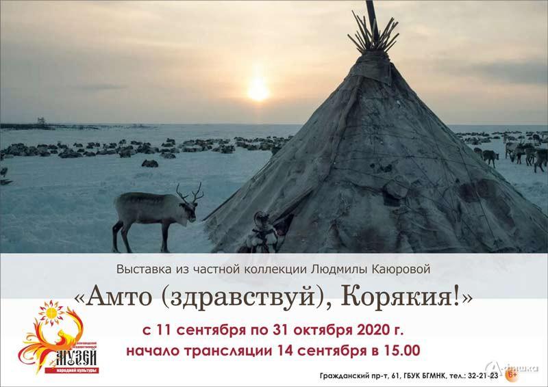 Выставка «Амто (здравствуй), Корякия»: Афиша выставок в Белгороде
