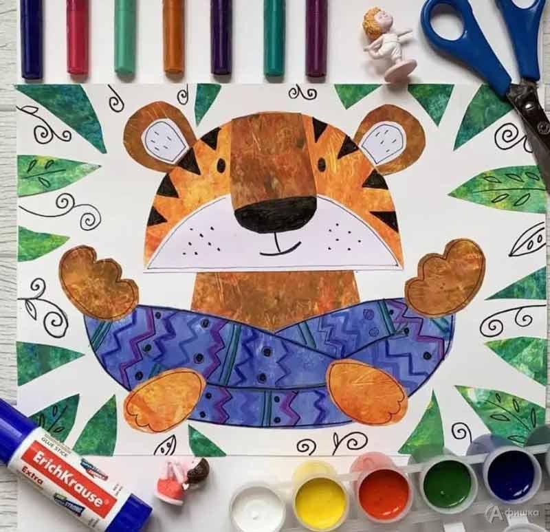 Мастер-класс по объёмному рисованию «Тигр-йог»: Детская афиша Белгорода