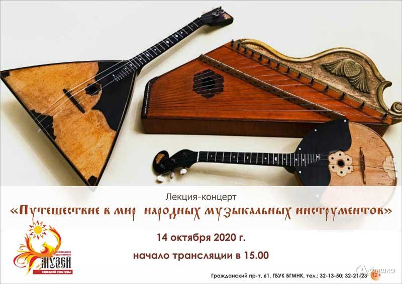 Лекция-концерт «Путешествие в мир народных музыкальных инструментов»: Не пропусти в Белгороде