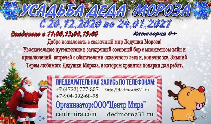 «Усадьба Деда Мороза вТитовском бору»: Непропусти вБелгороде