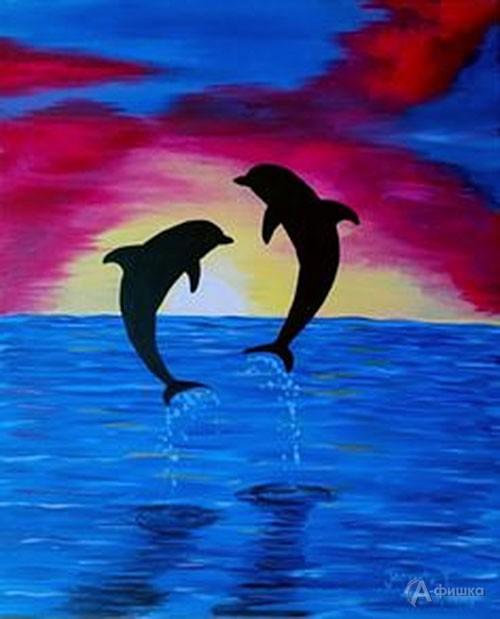 Мастер-класс «Влюблённые дельфины»: Детская афиша Белгорода