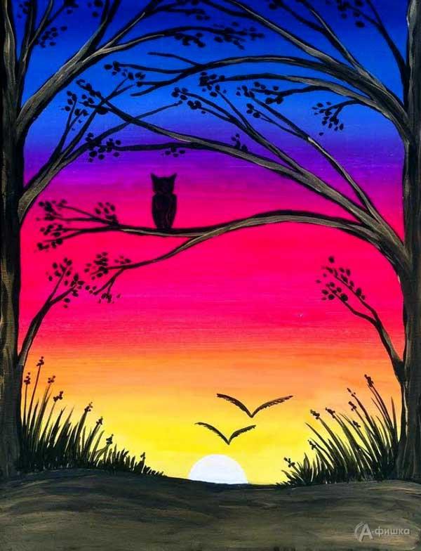 Мастер-класс «Волшебный закат»: Детская афиша Белгорода