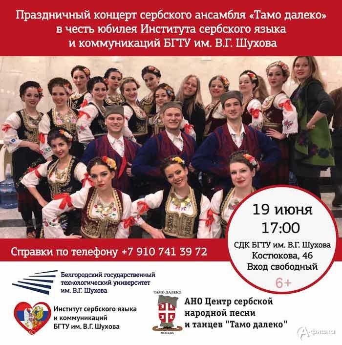 Концерт сербского ансамбля «Тамо Далеко»: Не пропусти в Белгороде