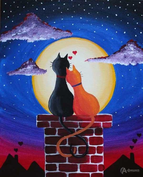Мастер-класс «Влюблённые коты»: Детская афиша Белгорода