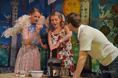 Сцена из спектакля «Приговорённый к счастью»
