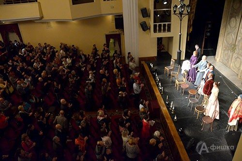 Белгородские театралы устроили овацию театру «Et Cetera» Александра Калягина, впервые принявшему участие в фестивале «Актёры России — Михаилу Щепкину»