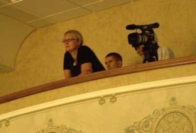 Творческий вечер Александра Михайлова в Белгороде: Оксана Михайлова весь вечер не отрывала глаз от супруга