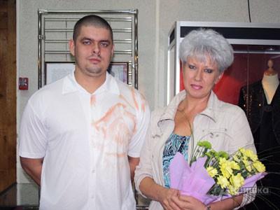 Дочь Евгении Ярцевой Елена и ее сын Антон