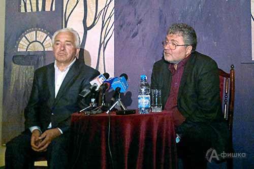 На встрече Юрия Полякова с белгородскими журналистами