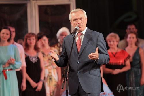 — Вам 70, а мы — не верим! — перефразируя Станиславского, с улыбкой отметил Губернатор Белгородской области Евгений Савченко