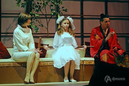 Финальная сцена спектакля «Как боги» в постановке БГАДТ им. Щепкина