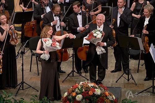 В Белгороде в концерте Национального филармонического оркестра России п/у В. Спивакова выступила сопрано Марика Мачитидзе
